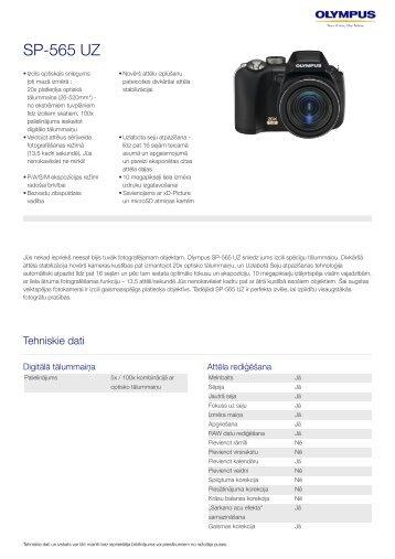 SP-565 UZ, Olympus, Compact Cameras