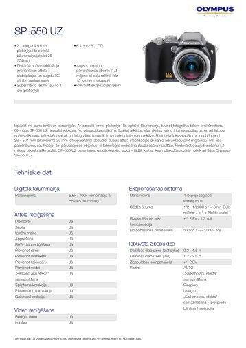 SP-550 UZ, Olympus, Compact Cameras