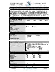 Registratie formulier Medische gegevens - Perfectmanage