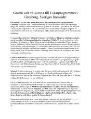 Grattis och välkomna till Läkarprogrammet i Göteborg, Sveriges ...