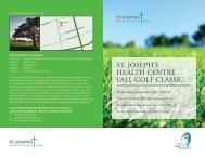 ST. JOSEPH'S HEALTH CENTRE FALL GOLF CLASSIC