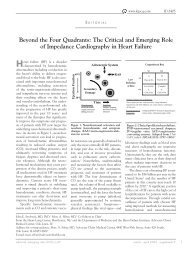 The Critical and Emerging Role of Impedance Cardiography in ...