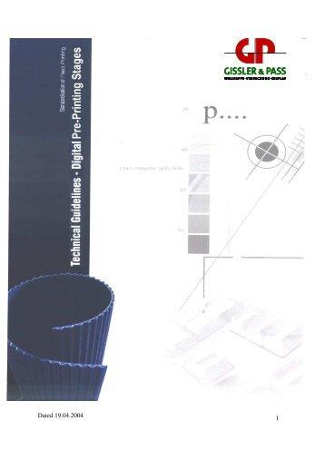 Technical guidelines for supplying data for Flexo-printing.