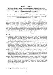 Zpráva komise o realizaci /EHS - edice