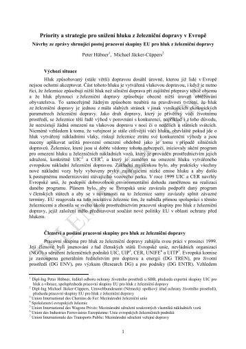 Priority a strategie pro snížení hluku z železniční dopravy v ... - edice