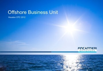 Business Unit Offshore - Fincantieri