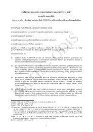 Směrnice Rady 2001/13/ES Evropského parlamentu a Rady ... - edice