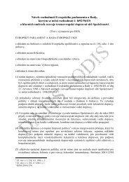 Návrh rozhodnutí Evropského parlamentu a Rady, kterým se ... - edice