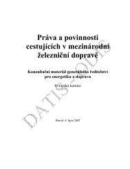 Práva a povinnosti cestujících v mezinárodní železniční ... - edice