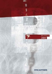 Bilancio 2007 - Fincantieri