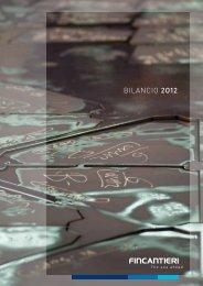 Bilancio 2012 - Fincantieri