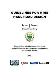 guidelines for mine haul road design - Surface Mining Association ...