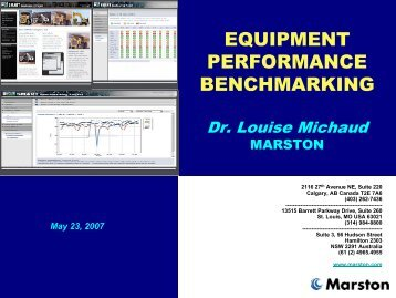 EQUIPMENT PERFORMANCE BENCHMARKING - SMART ...