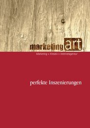 A4 Agenturprofil - Marketing Art