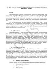 Vývojové tendence uživatelských poplatků za infrastrukturu u ... - edice