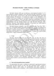 Slovinské železnice - změny struktury a strategie - edice