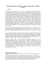 Konzultační dokument o logistice na podporu intermodality v ... - edice