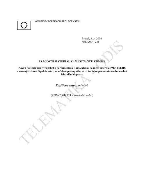 Návrh na směrnici Evropského parlamentu a Rady, kterou se ... - edice