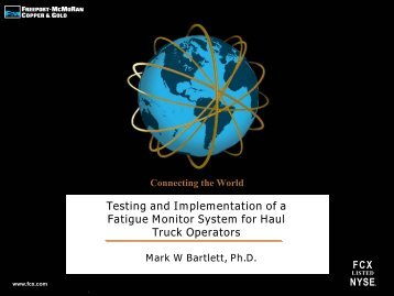 Testing and Implementation of a Fatigue Monitor System for Haul ...