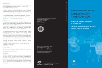 Descargar el programa - IAPH. Instituto Andaluz del Patrimonio ...