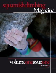 Volume 1 / Issue 1 / Summer 2009 - Squamish Climbing Magazine