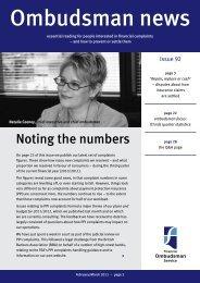 Ombudsman News Issue 92 - Financial Ombudsman Service