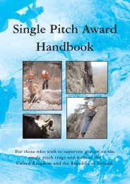 Single Pitch Award Handbook - Cadet Centre for Adventurous ...