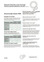Obvestila Planinske zveze Slovenije