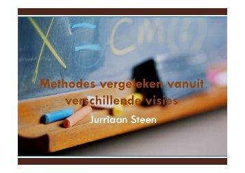 Methodes vergeleken vanuit verschillende visies - Steunpunt taal en ...