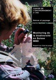 Monitoring de la biodiversité en Suisse MBD - Bundesamt für Umwelt