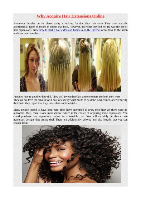 Why Acquire Hair Extensions Online