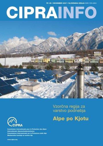 Alpe po kjotu - Alps Know-How - Cipra