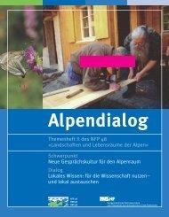 Themenheft II des NFP 48 «Landschaften und ... - Alps Know-How