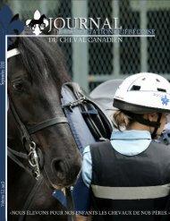 Volume 12-3 Septembre 2010 - Association québécoise du cheval ...
