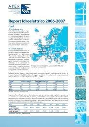 Aper – Report Idroelettrico 2006 - 2007 - Alps Know-How