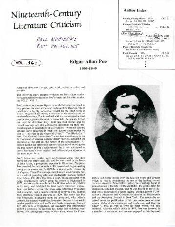 nineteenth century literature