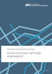 Etniske minoriteter og frivillige organisasjoner - Senter for forskning ...