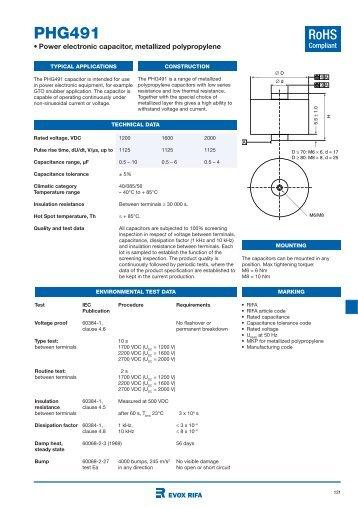 Film Capacitors - Power Electronics Capacitors