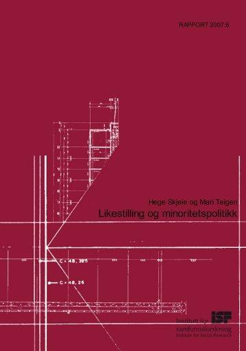 Last ned pdf - Institutt for samfunnsforskning