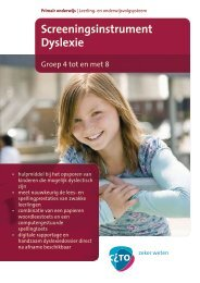 Folder Screeningsinstrument Dyslexie - Masterplan Dyslexie