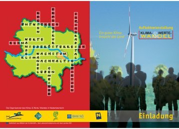 klima- werte - LEADER Region Donauland Traisental Tullnerfeld
