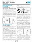 ZINC OXIDE VARISTORS Introduction - Page 4