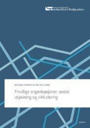 Last ned pdf - Senter for forskning på sivilsamfunn & frivillighet