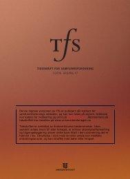 f - Institutt for samfunnsforskning
