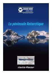 La péninsule Antarctique - Le blog de glace - Grand Nord Grand Large