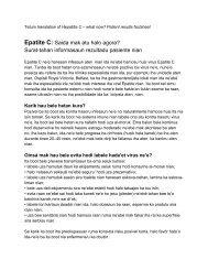 Epatite C - Public Health Agency for Northern Ireland