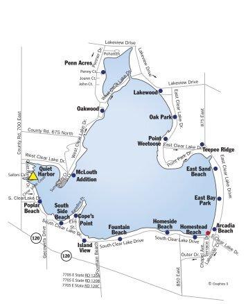 Clear Lake Indiana Map.May Clear Lake Indiana