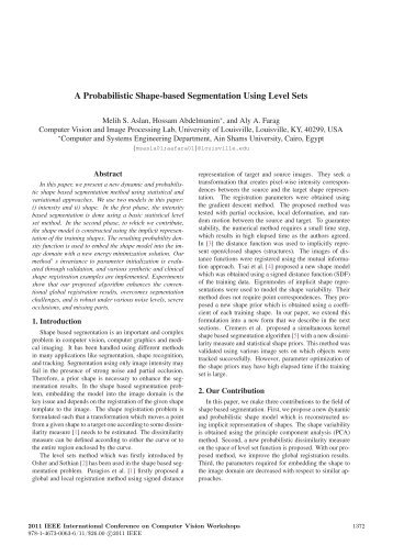 A Probabilistic Shape-based Segmentation Using ... - IEEE Xplore