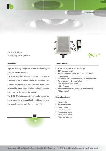 LB Datasheeet DE 300 R Polar.pdf - Lautsprecher