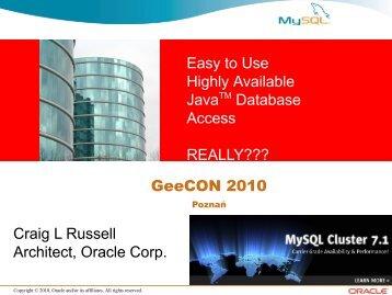 MySQL AB - GeeCON